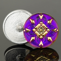 (27mm) Purple Iridescent with Gold Paint