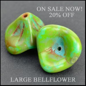 Czech Glass Bellflower Beads