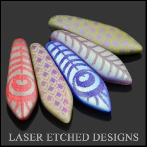 Czech Glass Laser Etched Beads