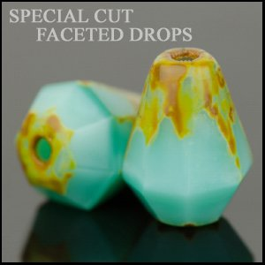 Czech Glass Special Cut Drop Beads