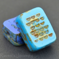 Rectangle with Dots (13x9mm)