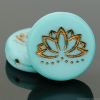 Coin with Lotus Flower