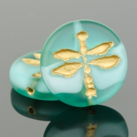 Pressed Coin with Dragonfly (18mm)