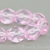 Round Faceted (6mm) Pink Transparent
