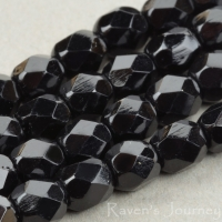 Round Faceted (4mm) Jet Opaque