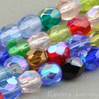 Round Faceted (4mm) Mixed Beads