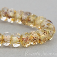 Rondelle (5x3mm) Crystal Transparent with Picasso Finish (3)