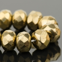 Rondelle (5x3mm) Bronze Opaque with Gold Finish