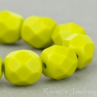 Round Faceted (6mm) Gaspeite Opaque