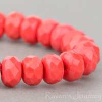 Rondelle (5x3mm) Coral Red Opaque