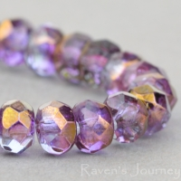 Rondelle (5x3mm) Alexandrite Transparent with Bronze Finish