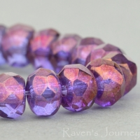 Rondelle (5x3mm) Crystal Transparent with Purple Luster