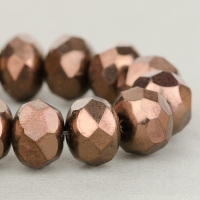 Rondelle (9x6mm) Dark Bronze Opaque with Bronze
