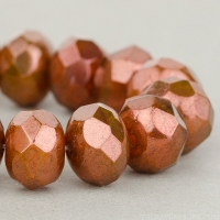 Rondelle (9x6mm) Bronze (Orange Bronze) Opaline