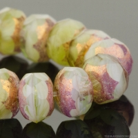 Rondelle (5x3mm) Peruvian Opal Mix with Purple Bronze Finish