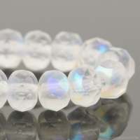 Rondelle (5x3mm) Crystal Transparent Matte with AB Finish