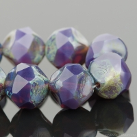 Central Cut (9mm) Purple Opaline with Picasso Finish