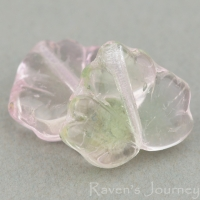 Maple Leaf (13x11mm) Pink Green Mix Transparent