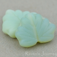 Maple Leaf (13x11mm) Grey Green Opaline Matte