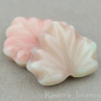 Maple Leaf (13x11mm) Mint Pink Mix Silk Transparent