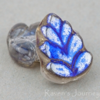 Birch Leaf (10x8mm) Crystal Transparent with Blue Iris Luster