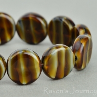 Coin (12mm) Brown Tiger's Eye