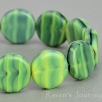 Coin (12mm) Green Gaspeite TIger's Eye