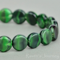 Coin (8mm) Green Tiger's Eye