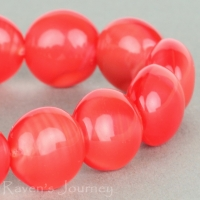 Puffy Lentil (11x7mm) Red Silk