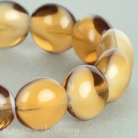Puffy Lentil (11x7mm) Topaz White Mix Opaque Transparent