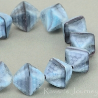 Double Pyramid (12x10mm) Grey Tiger's Eye Matte