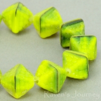 Double Pyramid (12x10mm) Yellow Tiger's Eye Matte