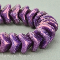 Large Bellflower (12x9mm) Purple Opaque with Purple Luster