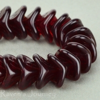 Large Bellflower (12x9mm) Red Garnet Transparent