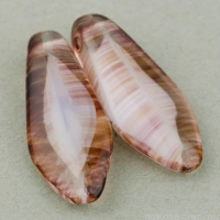 Large Dagger (17x7mm) Topaz Crystal White Mix Opaque Transparent