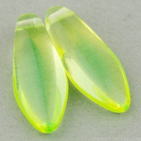 Large Dagger (17x7mm) Yellow Green Transparent