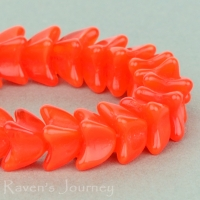 4 Point Bellflower Cap (5x7mm) Orange Opaline