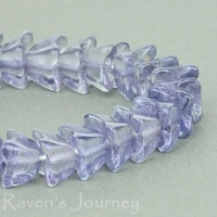 4 Point Bellflower Cap (4x5mm) Crystal Sapphire Transparent with Luster