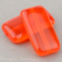Rectangle (15x8mm) Orange Transparent