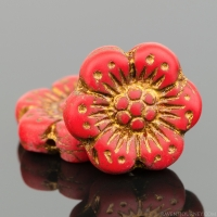 Wild Rose (14mm) Red Opaque Matte with Dark Bronze Wash