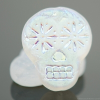 Sugar Skull (20x17mm) Crystal Transparent Matte with AB Finish