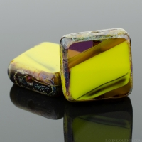 Square (11mm) Gaspeite Purple Mix Opaque Transparent with Picasso