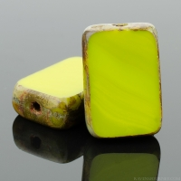 Rectangle (12x8mm) Gaspeite Opaque with Picasso