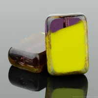 Rectangle (12x8mm) Gaspeite Purple Opaque Transparent with Picasso