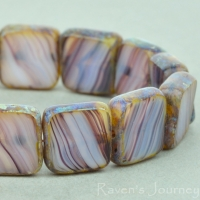 Square (9mm) Amethyst White Mix Opaline Transparent with Picasso