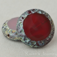 Mayan Sun (16mm) Red Opal Opaline with Picasso