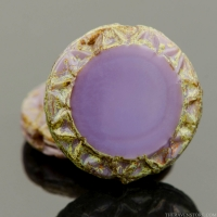 Mayan Sun (12mm) Purple Silk with Picasso Finish