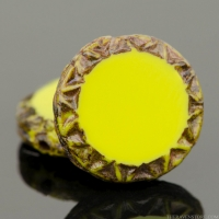 Mayan Sun (12mm) Gaspeite Green Opaque with Picasso Finish