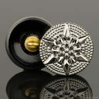 (18mm) Round Star Silver Finish